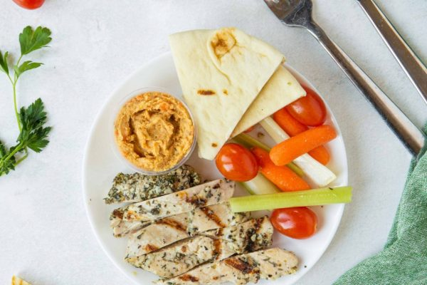 Grilled Chicken & Hummus