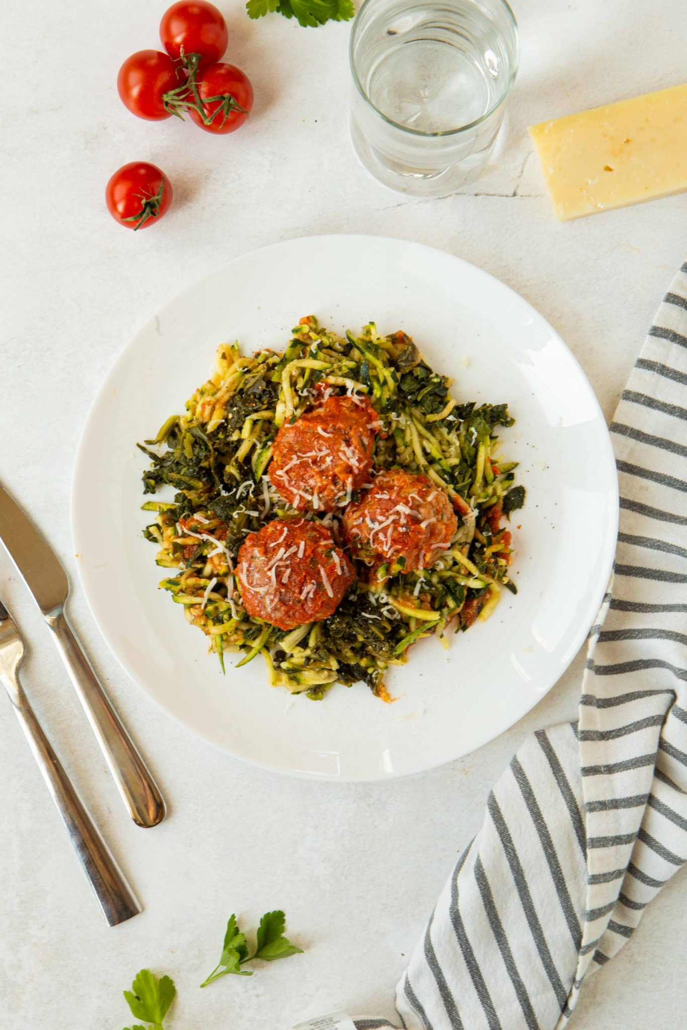 Italian Meatballs with Zoodles