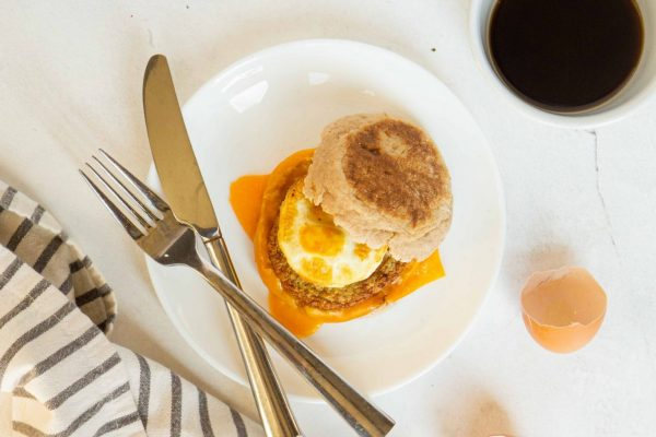 English Muffin with Poached Egg